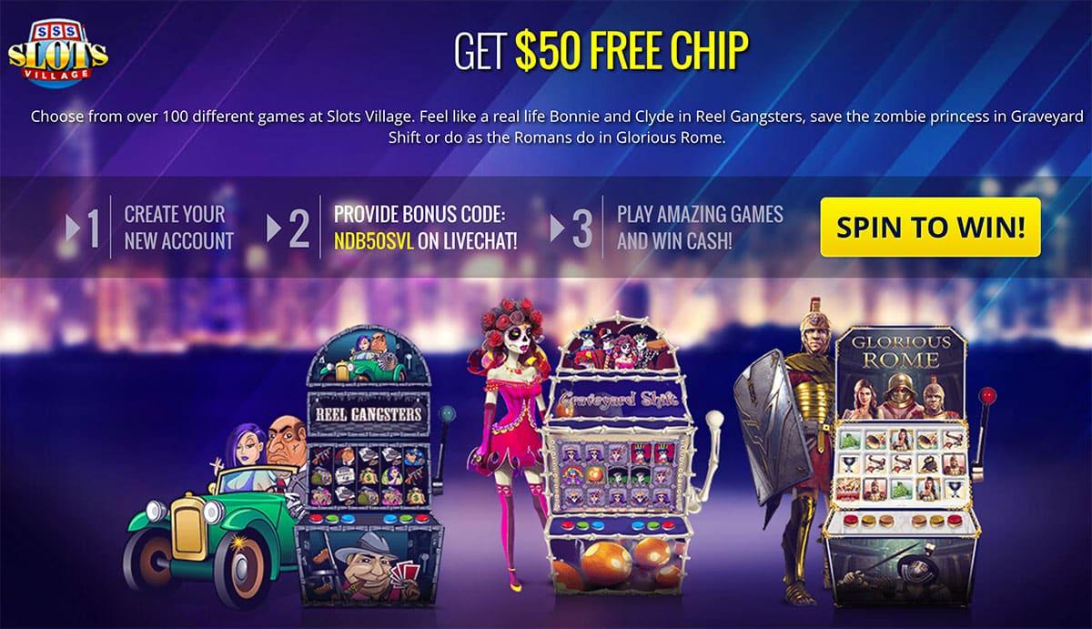 Slots Village $50 Free Bonus