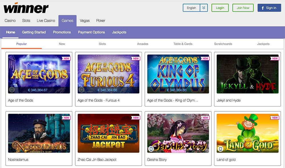 Winner Casino 30 Free Code
