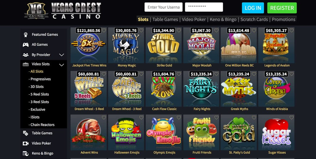 Vegas Crest Casino: Over 800 Games