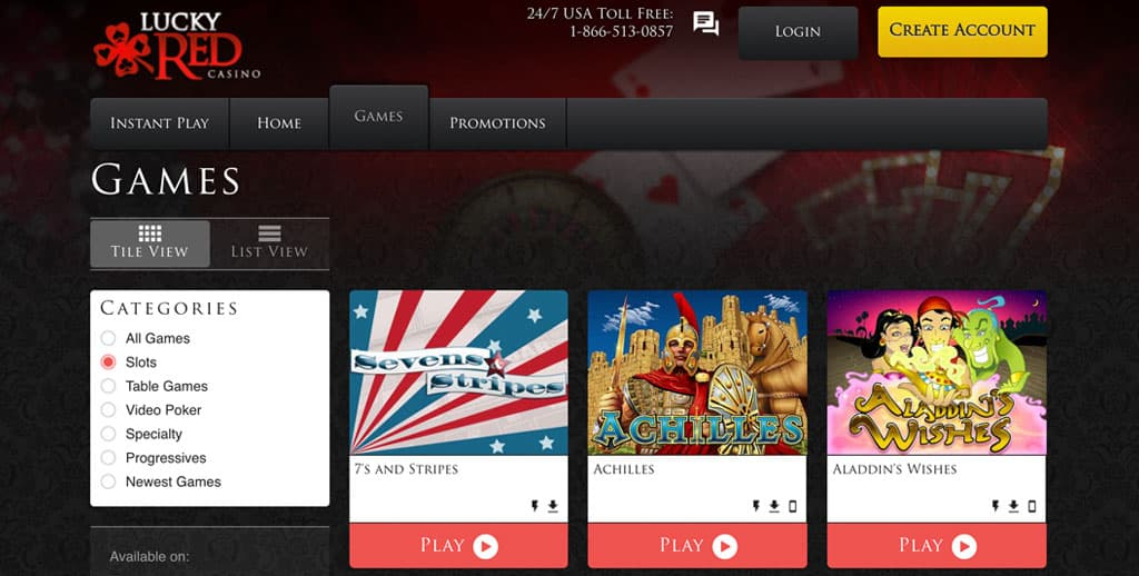 Lucky Red Casino: Over 200 Casino Games