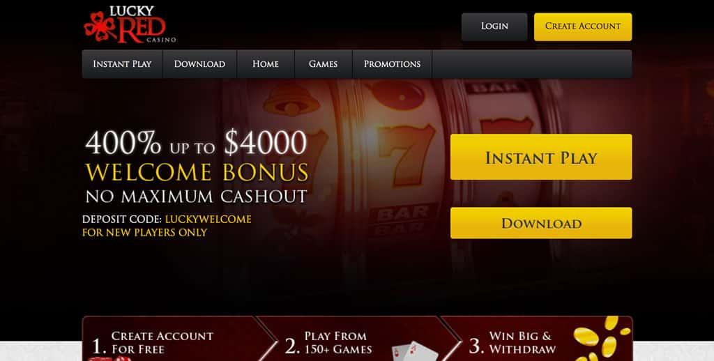 Lucky Red Casino: 400% Match Bonus up to 4000 Free Welcome Bonus.